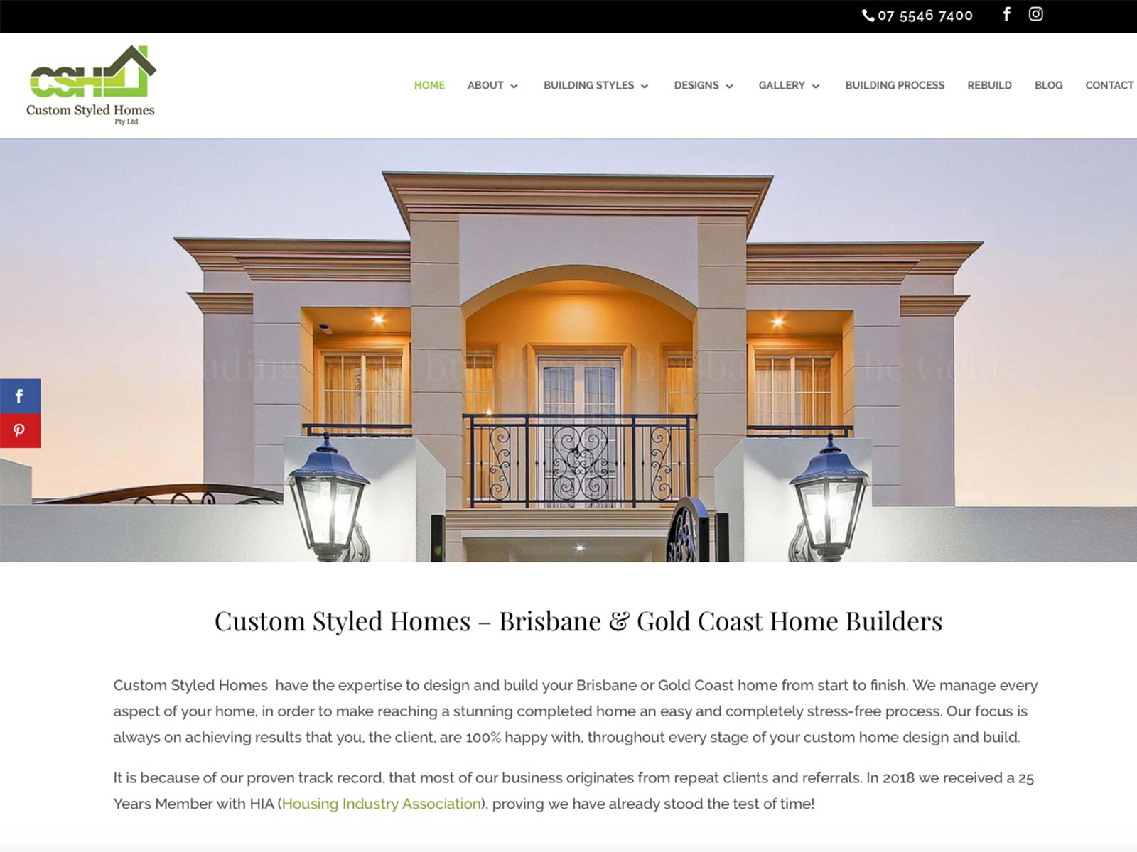 Custom Styled Homes - Web Development by GN Designs Brisbane